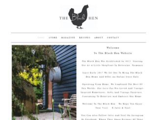theblackhen.com screenshot