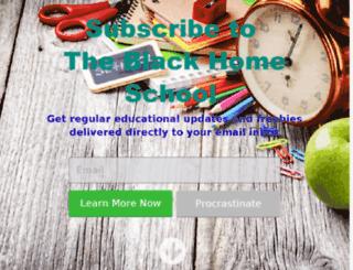theblackhomeschool.com screenshot