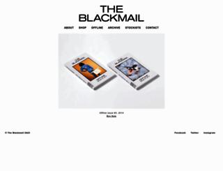 theblackmail.com.au screenshot