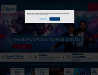 theblackpooltower.com screenshot