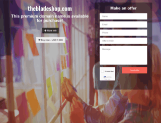 thebladeshop.com screenshot