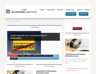 theblogginglawyers.com screenshot