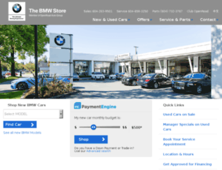 thebmwstore.openroadautogroup.com screenshot