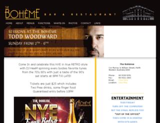 theboheme.com.au screenshot