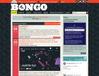 thebongoclub.co.uk screenshot