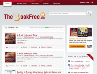 thebookfree.com screenshot