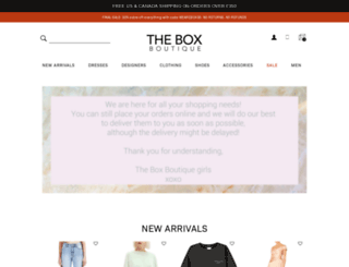 theboxboutique.com screenshot