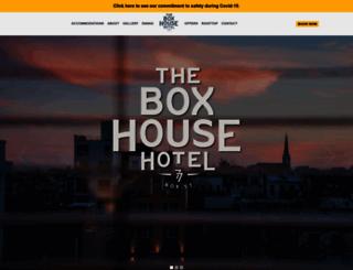 theboxhousehotel.com screenshot