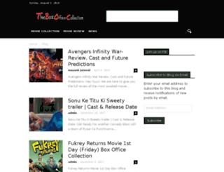 theboxofficecollection.com screenshot