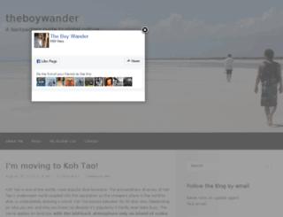 theboywander.net screenshot