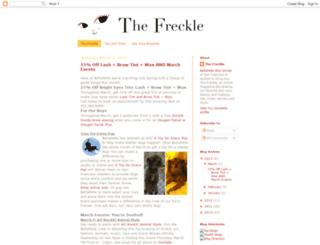 thebpfreckle.blogspot.com screenshot