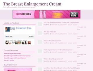 thebreastenlargementcream.com screenshot