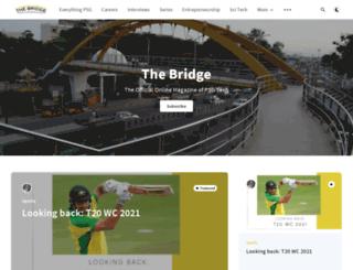 thebridge.psgtech.ac.in screenshot