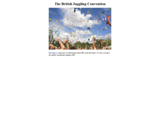 thebritishjugglingconvention.co.uk screenshot