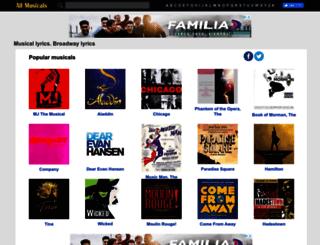 thebroadwaymusicals.com screenshot