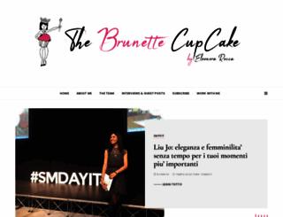 thebrunettecupcake.com screenshot