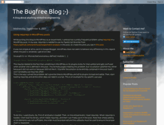 thebugfreeblog.blogspot.fr screenshot