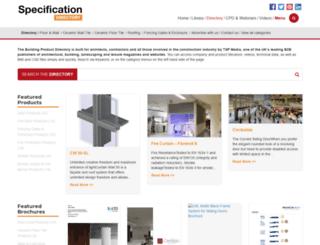 thebuildingproductdirectory.co.uk screenshot