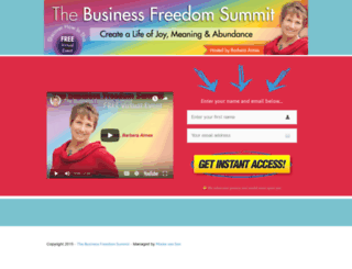 thebusinessfreedomsummit.com screenshot