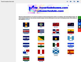 thebusschedule.com screenshot