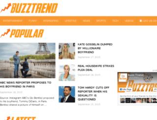thebuzztrend.com screenshot