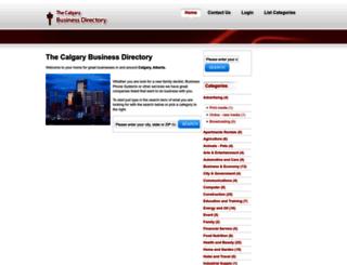 thecalgarybusinessdirectory.com screenshot