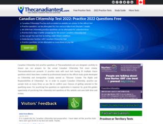 thecanadiantest.com screenshot