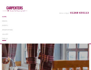 thecarpentersrestaurant.co.uk screenshot