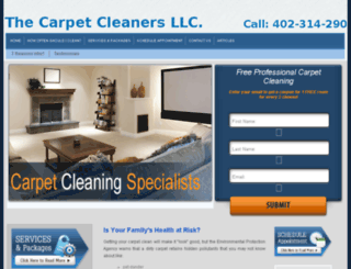 thecarpetcleanerslincoln.com screenshot