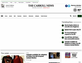 thecarrollnews.com screenshot