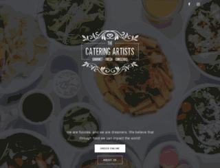 thecateringartists.com screenshot