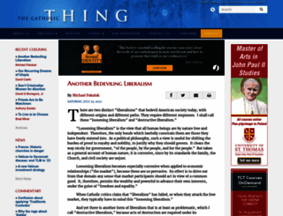 thecatholicthing.org screenshot