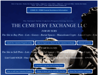 thecemeteryexchange.com screenshot