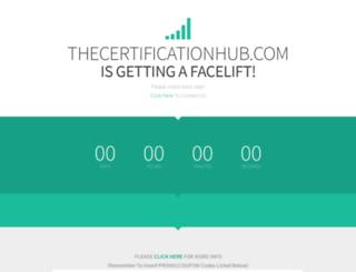 thecertificationhub.com screenshot