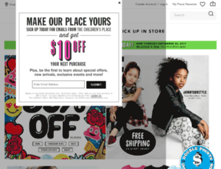 thechildrensplace.com screenshot
