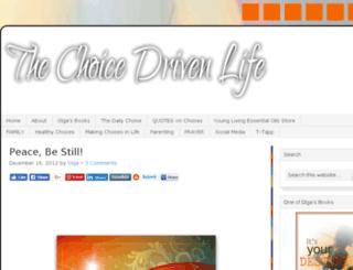 thechoicedrivenlife.com screenshot