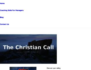 thechristiancall.com screenshot