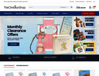 thechristianshop.co.uk screenshot