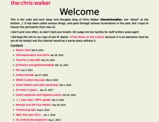 thechriswalker.net screenshot