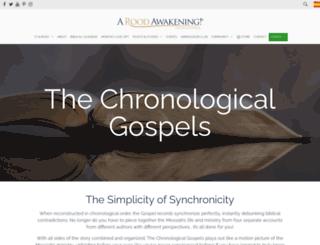 thechronologicalgospels.com screenshot