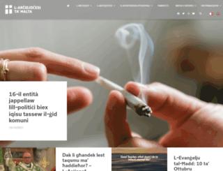 thechurchinmalta.org screenshot