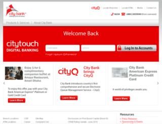thecitybank.com.bd screenshot