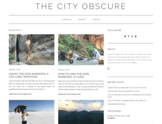 thecityobscure.com screenshot