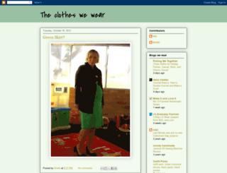 theclotheswewear.blogspot.com screenshot