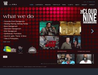 thecloudnineeventsgroup.com screenshot