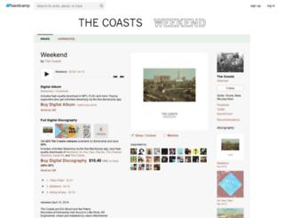 thecoasts.bandcamp.com screenshot