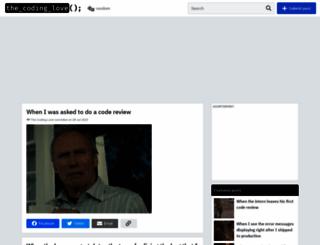 thecodinglove.com screenshot