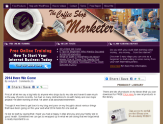 thecoffeeshopmarketer.com screenshot