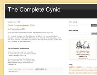 thecompletecynic.com screenshot