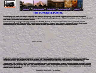 theconcreteportal.com screenshot